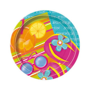 "Pool Party 7"" Plates - Uptown Parties & Balloons"