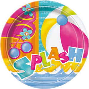 "Pool Party 9"" Plates - Uptown Parties & Balloons"