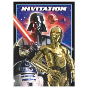 Star Wars Invitations - Uptown Parties & Balloons