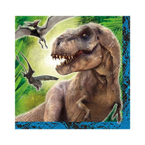 Jurassic World Beverage Napkins - Uptown Parties & Balloons