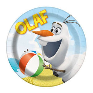 "7"" Plate Olaf - Uptown Parties & Balloons"