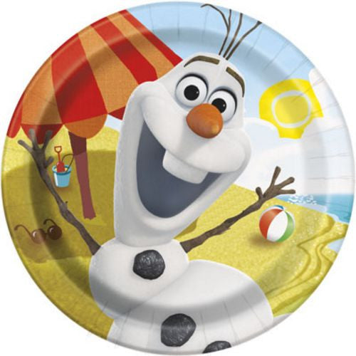 "9"" Plates Olaf - Uptown Parties & Balloons"
