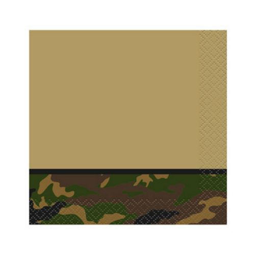 Camo Party Beverage Napkins - Uptown Parties & Balloons