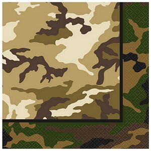Camo Party Lunch Napkins - Uptown Parties & Balloons