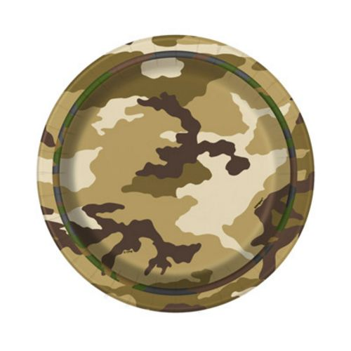 "Camo Party 7"" Plates - Uptown Parties & Balloons"