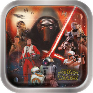 "Star Wars VII 9"" Plates - Uptown Parties & Balloons"