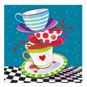 Mad Hatter Beverage Napkins - Uptown Parties & Balloons