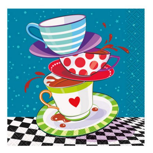 Mad Hatter Beverage Napkins