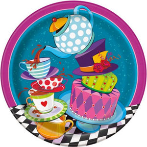 "Mad Hatter 9"" Plates - Uptown Parties & Balloons"