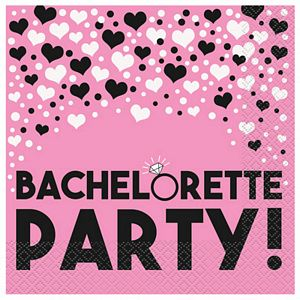 Bachelorette Party Lunch Napkins - Uptown Parties & Balloons