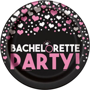 "Bachelorette Party 9"" Plates - Uptown Parties & Balloons"