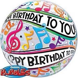 Happy Birthday To You Music Notes Bubble