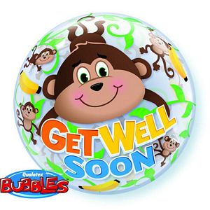 Get Well Monkeys Bubble - Uptown Parties & Balloons