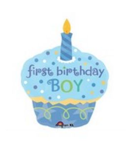 First Birthday Boy Cupcake - Uptown Parties & Balloons