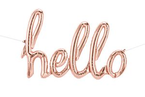 Hello Script, Rose Gold - Uptown Parties & Balloons