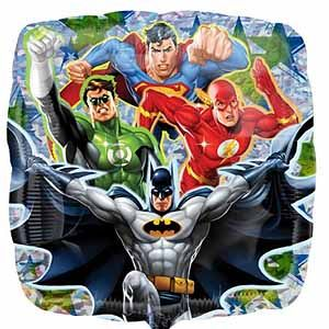 Justice League Characters Holographic - Uptown Parties & Balloons