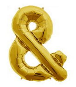 SuperShape Ampersand Gold - Uptown Parties & Balloons