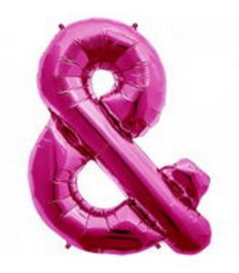 SuperShape Ampersand Magenta - Uptown Parties & Balloons