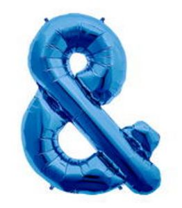 SuperShape Ampersand Sapphire Blue - Uptown Parties & Balloons