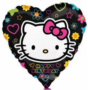 Hello Kitty Happy Birthday Heart - Uptown Parties & Balloons