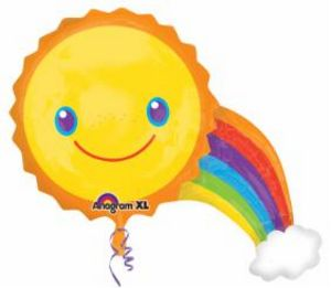 Sun & Rainbow SuperShape - Uptown Parties & Balloons