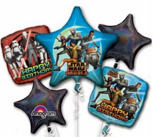 Star Wars Rebels Foil Balloon Bouquet - Uptown Parties & Balloons