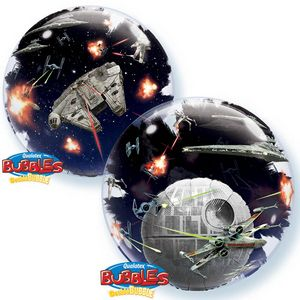 Star Wars Death Star Double Bubble - Uptown Parties & Balloons