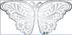 Wedding Butterfly SuperShape - Uptown Parties & Balloons