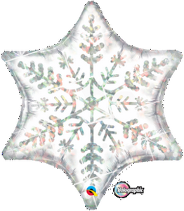 Dazzling Snowflake SuperShape - Uptown Parties & Balloons