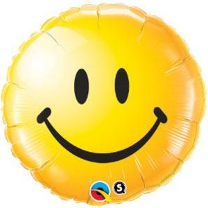 "18"" Smiley Face Yellow - Uptown Parties & Balloons"