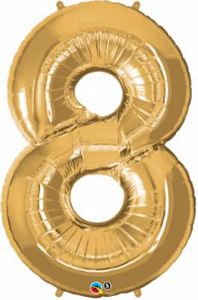 SuperShape 8 Gold - Uptown Parties & Balloons