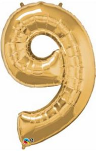 SuperShape 9 Gold - Uptown Parties & Balloons