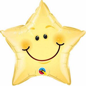"18"" Smiley Face Star - Uptown Parties & Balloons"