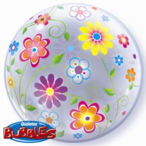 Spring Floral Bubble - Uptown Parties & Balloons