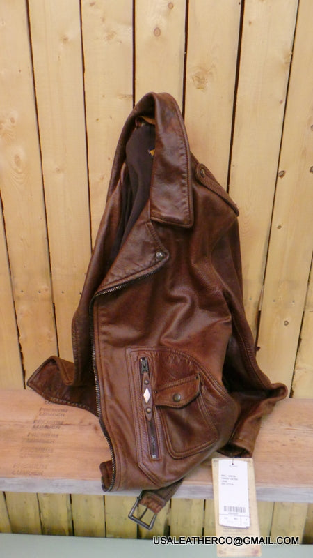 schott nyc leather vintaged 629D