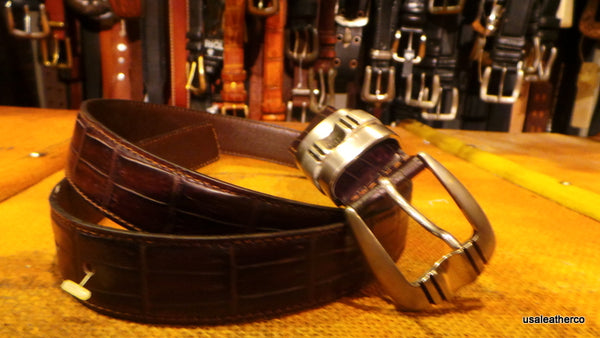Nanni Belts Made In Milan Italy Exotic leather SKINS Great Quality Style4 134 New