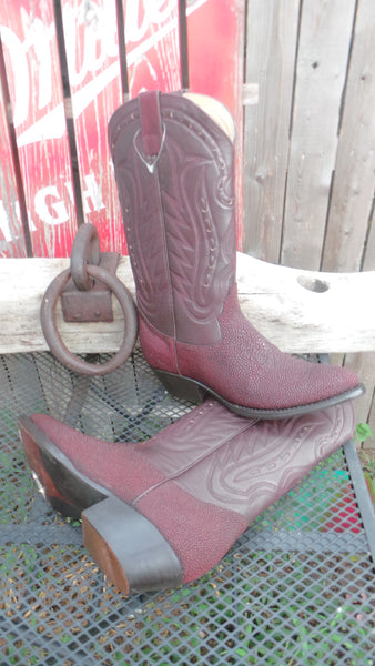 Handmade boots in real sting ray custom made in usa