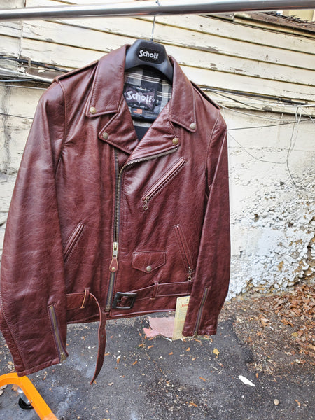 SCHOTT NYC PERFECTO MOTO Jacket STYLE #626  MADE IN USA brown only  ask for sizes left