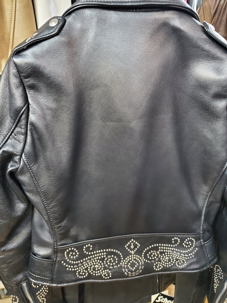 schott nyc 218ws1  and 218w s2  custom  women leather jackets size small only
