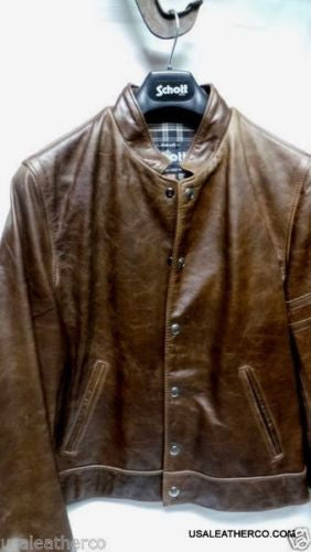 Schott NYC NEW RACER  HEAVY COWHIDE LUG 627 SIZE LARGE MADE IN USA SOLD