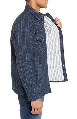 Schott NYC Plaid Flannel Shirt Jacket NWT with side pockets entry!stunning NWT