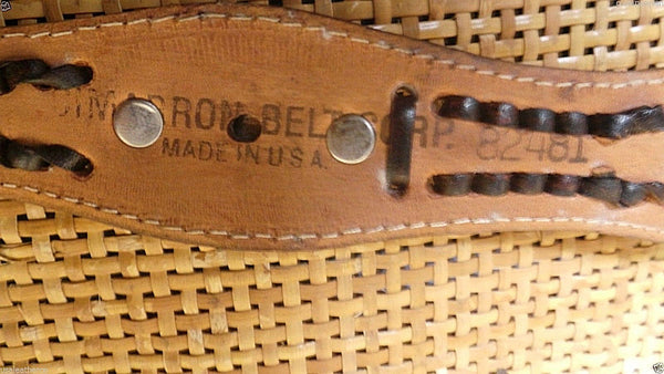 Rare/VinTaGe  WESTERN Leather BELT Co  MADE IN Usa Stunning WORKS SOLD OUT BLACK ONLY