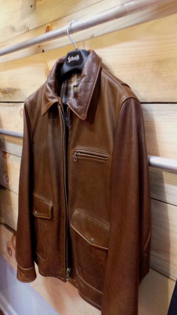 Schott Nyc NEW soft Leather Delivery Jacket (Brown) 563  COWHIDES  Antique XL ONLY