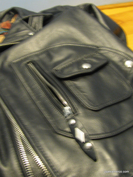 Schott NYC leather MOTORCYCLE  PER 3  BARNEYS N.Y Jacket  XXL Made In USA NWT