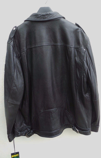 NEW Schott NYC Rare Lambskin Black naked LEATHER jacket Supple skins sizeXXL