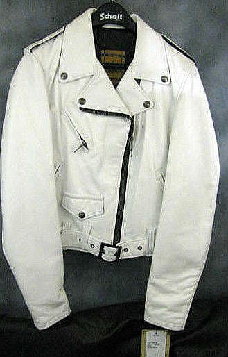 SCHOTT NYC PERFECTO WOMEN Lambskin LEATHER JACKET NWT MADE IN USA WHITE