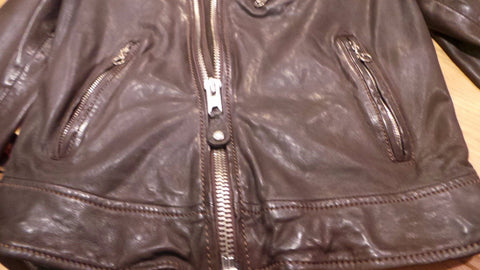 Schott NYC Women Leather moto Jacket   NWT Plum color SOLD OUT
