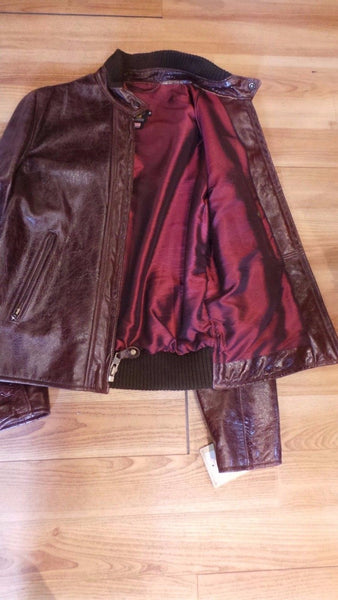 Schott  NYC Perfecto Brand Leather Jacket black cherry  #588  SIZE MED RARE
