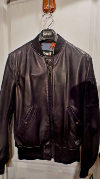 SCHOTT NYC  MA- 1  NWT BLACK MADE IN USA  made in usa  SIZE MED SOLD SOLD