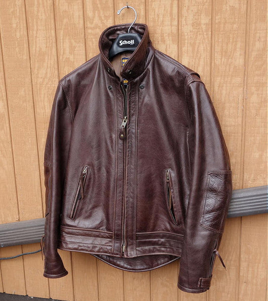 Schott Nyc Perfecto Men's Leather Antiqued #585 SIZE  XL Made inUsa  NWT